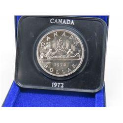 1972 CANADIAN SILVER DOLLAR (SCHIER)
