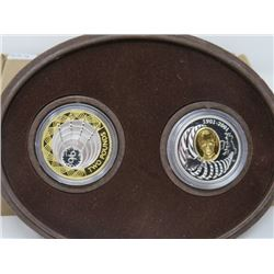 2001 (TWO COIN MINT SET)