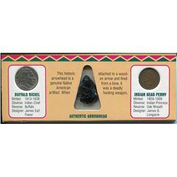 1902 & 1935 NATIVE AMERICAN ARROWHEAD & COIN COLLECTIONS