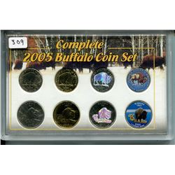 2005 COMPLETE BUFFALO COIN SET 4 *EDITIONS W/GOLD*