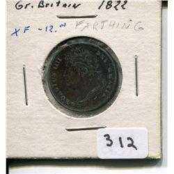 1882 FARTHING, XF (GREAT BRITAIN)