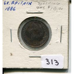 1886 FARTHING (GREAT BRITAIN) *UNC*