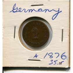 1876 2 PFENNIG *RARE* (GERMANY)