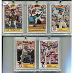 1987 & 1989 5X TOPPS BASEBALL CARDS COMMERATIVE SET* (ROOKIE & ALL STAR)