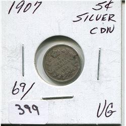 1907 CNDN SILVER NICKEL