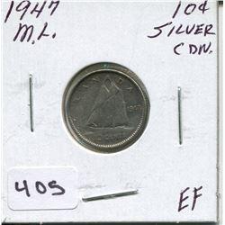 1947 CNDN SILVER DIME M.L.