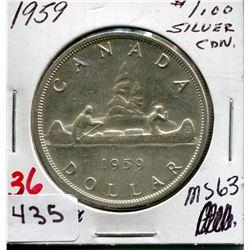 1959 CNDN SILVER DOLLAR