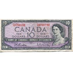 1954 CNDN $10 BANK NOTE (BEATTIE/RASMINSKY)