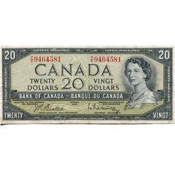 1954 CNDN $20 BANK NOTE (BEATTIE/RASMINSKY)