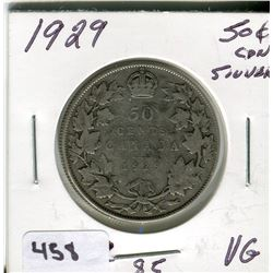 1929 CNDN SILVER 50 CENT PC