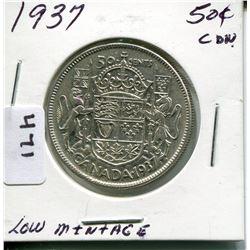 1937 CNDN 50 CENT PC *LOW MINTAGE*