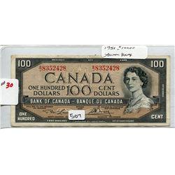 1954 CNDN $100 B ANKNOTE *LAWSON/BOUEY*