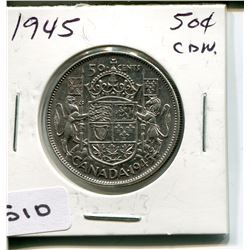 1945 CNDN 50 CENT PC. *SILVER*