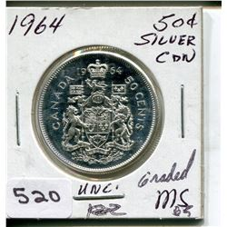 1964 CNDN 50 CENT PC. *SILVER*