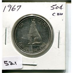 1967 CNDN 50 CENT PC. *SILVER*