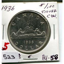1936 CNDN DOLLAR *SILVER*