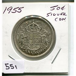 1955 CNDN 50 CENT PC *SILVER*