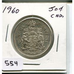 1960 CNDN 50 CENT PC *SILVER*
