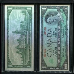 2 - 1967 ROYAL CANADIAN MINT $1 BANK NOTES (CENTENNIAL) *UNCIRCULATED, GEM*