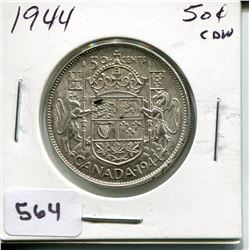 1944CNDN SILVER 50 CENT PC