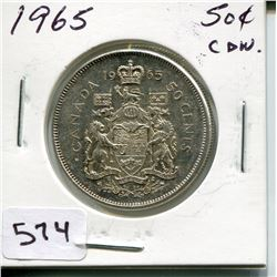 1965 CNDN SILVER 50 CENT PC