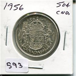 1956 CNDN 50 CENT PC *SILVER*