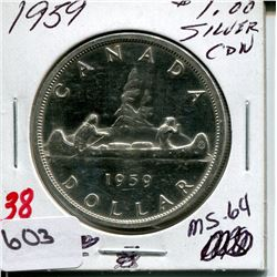 1959 CNDN DOLLAR *SILVER*