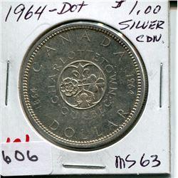 1964 *DOT* CNDN DOLLAR *SILVER*