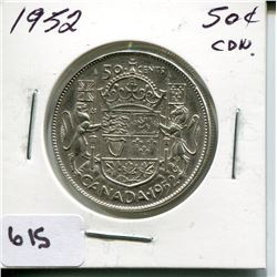 1952 CNDN 50 CENT PC *SILVER*