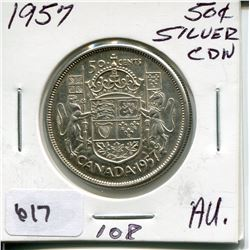 1957 CNDN 50 CENT PC *SILVER*