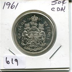 1961 CNDN 50 CENT PC *SILVER*