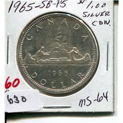1965 SB P5 CNDN DOLLAR *SILVER*