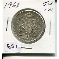 1962 CNDN 50 CENT PC *SILVER*