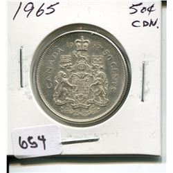 1965 CNDN 50 CENT PC *SILVER*