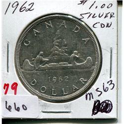 1962 CNDN DOLLAR *SILVER*