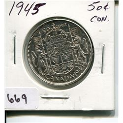1945 CNDN 50 CENT PC *SILVER*