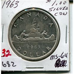1963 CNDN DOLLAR *SILVER*