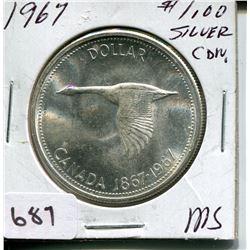 1967 CNDN DOLLAR *SILVER*