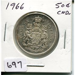 1966 CNDN 50 CENT PC *SILVER*