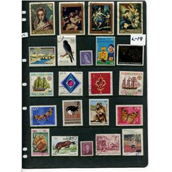 LOT OF 22 WORLD STAMPS