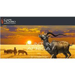 CAPE TO CAIRO SAFARI www.huntinafrica.com/northwest-province-camp