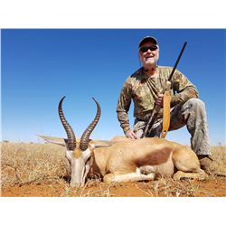2 hunters  hunting 2x2, 1x WHITE springbok and 1x BLACK springbok and 1x COMMON springbok - 1x Commo