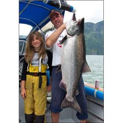 4 Day 3 Night fully guided trip for one person British Columbia fishing