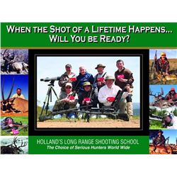 4  day long range shooting school in powers oregon, no meals or lodging included, its an intensive t
