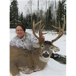 5 day Alberta Whitetail deer hunt, includes meals, lodging add wolf trophy fee of $750, average 150+