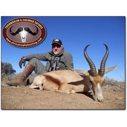 1 hunter, 1 observer included plus $1000 credit towards trophy fees in Namibia vaild 2019 or 2020