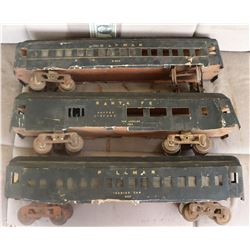 ZZ-CLEARANCE TRAINS PASSENGER CARS ANTIQUE FILMING MINIATURES LOT OF 3