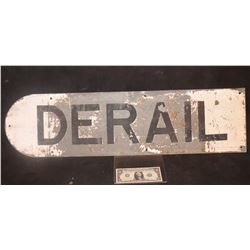 ZZ-CLEARANCE DERAIL ANTIQUE TRAIN MOVIE SIGN PRODUCTIONS UNKNOWN