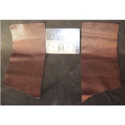 STAR TREK DISCOVERY BRONZE COMMAND UNIFORM FABRIC WITH GLYPHS