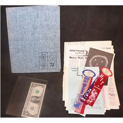 ZZ-CLEARANCE VALHALLA 1974 SCHOOL YEARBOOK WITH LOTS OF SIGNATURES AND EXTRAS